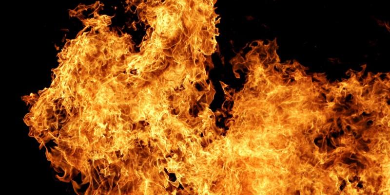 В Пушкине сгорели два грузовика