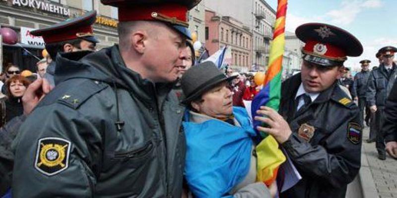 Петербургские ЛГБТ активисты провели акцию протеста против Олимпиады