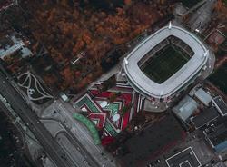 Самая большая каллиграфия в мире появилась перед стадионом «Локомотива» в Москве