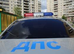 В Василеостровском районе машина ДПС столкнулась с автобусом